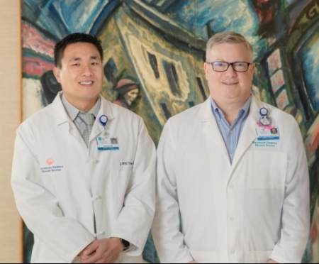 General surgeons J. William Tsai, M.D., and Vincent K. Arlauskas, M.D., Southeast Georgia Physician Associates-Glynn General & Vascular Surgery